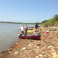 Photo of fishing for Channel Catfish in Lewisville Lake, TX
