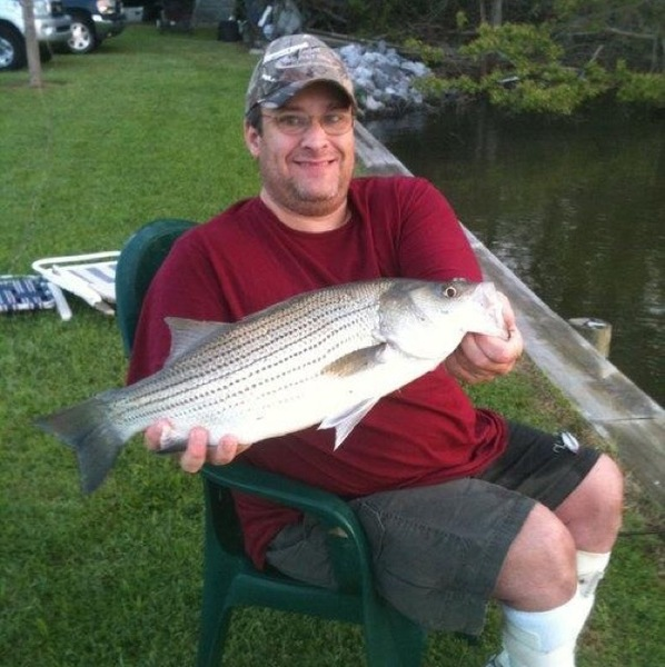 Striped bass false river la fishingscout for Louisiana bass fishing reports