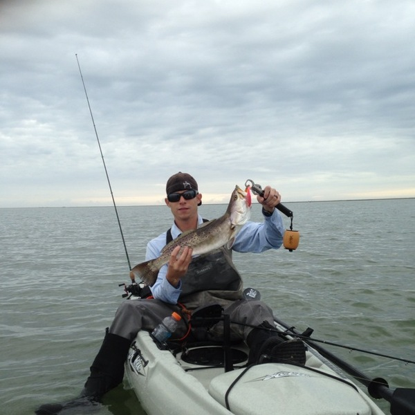 Spotted speckled trout matagorda surf tx fishingscout for Matagorda fishing guides