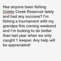 Coleto Creek Reservoir Fishing Report 06/15/2014