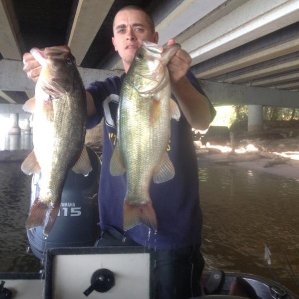 Largemouth bass lake houston tx fishingscout for Fishing in houston
