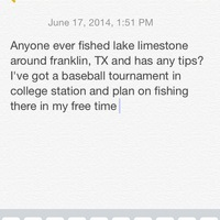 Lake Limestone Fishing Report 06/17/2014