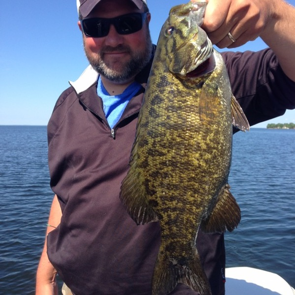 Smallmouth bass mille lacs lake mn fishingscout for Lake mille lacs fishing report