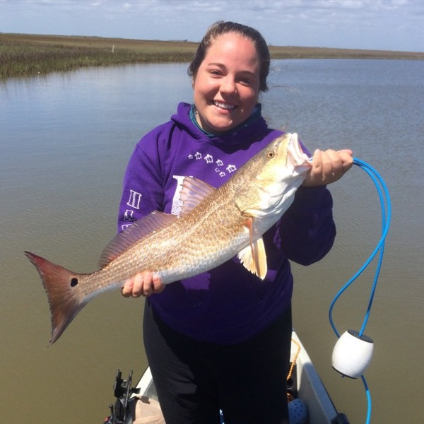 21 year old college girl out-fishin the guys.